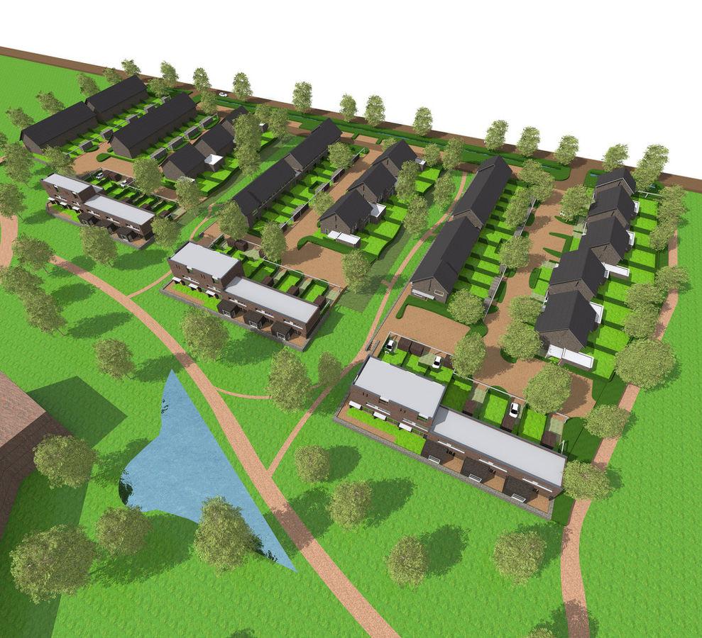 Nieuwbouw 95 woningen op v m ojc terrein molenhoek for Zwembad s hertogenbosch